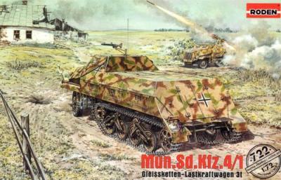 722 - Munitionskraftwagen fur Nebelwerfer, Sd.Kfz.4 1/72