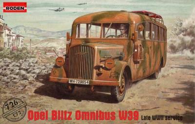 726 - Opel Blitz Omnibus W39 Late WWII Service 1/72