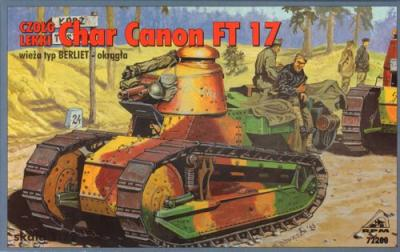 72200 - Char Canon Renault FT-17 with Berliet turret 1/72