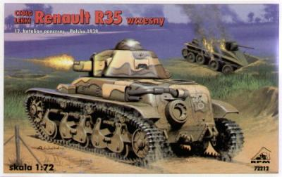 72212 - Renault R35 early version (Poland - 1939) 1/72