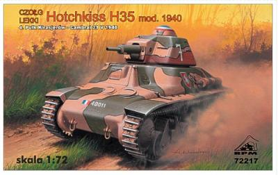 72217 - Hotchkiss H35 early version, France 1940, with 37mm SA38 gun 1/72