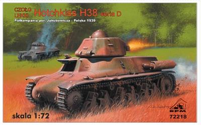 72218 - Hotchkiss H38 Series D, Poland 1939, with 37mm SA18 gun 1/72