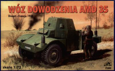 72302 - Command Radio vehicle on AMD35 chassis 1/72