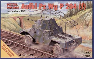 72307 - Aufkl Panzer Wg P 204 (f) railway armoured car 1/72