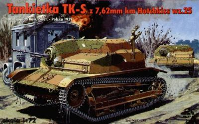 72500 - Tankietka TK-S with 7,62mm Hotchkiss 1/72