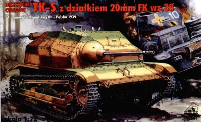 72501 - Tankietka TK-S with 20mm Fk wz.38 1/72