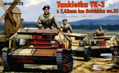 72502 - Tankietka TK-3 with 7,62mm Hotchkiss wz.25 1/72