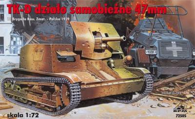72505 - TK-D 47mm Self Propelled gun 1/72