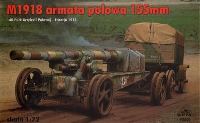 72600 - M1918 field gun 155mm (France - 1918) 1/72