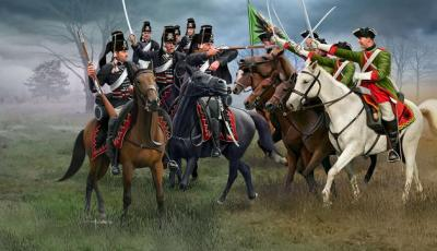 2453 - Seven Years War (Austrian Dragoons & Prussian Hussars) 1/72