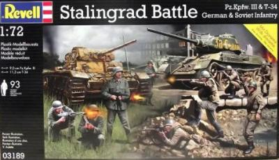 3189 - Pz.Kpfw.III and Russian T-34 Set Stalingrad 1/72