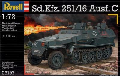 3197 - German Sd.Kfz.251/16 Ausf.C 1/72