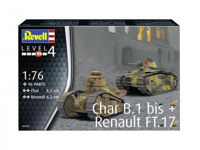 3278 - Char B.1 bis & Renault FT.17 1/76