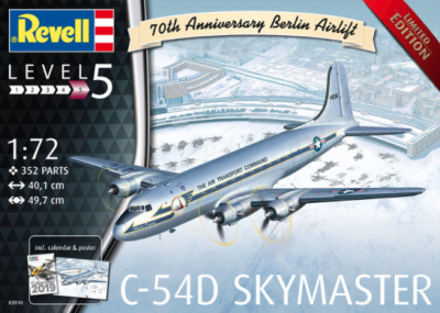 "3910 - Douglas C-54D Berlin Airlift ""70th Anniversary"" Limited Edition (includes calendar & poster) 1/72"
