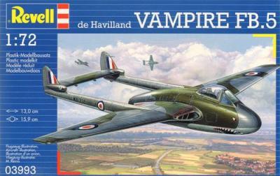 3993 - De Havilland Vampire Mk.5 1/72