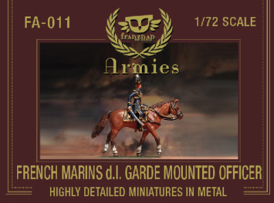 FA-011 - French Marins de la Garde Mounted Officer 1/72