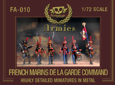 FA-010 - French Marins de la Garde Command 1/72,  FA-010   FRENCH MARINS DE LA GARDE COMMAND metal