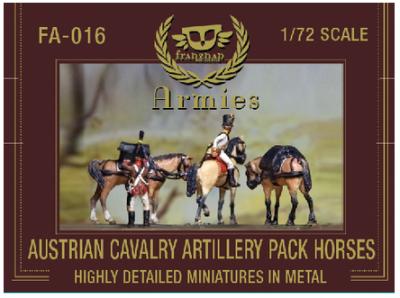 FA-016 - Austrian Cavalry Artillery Pack Horses 1/72