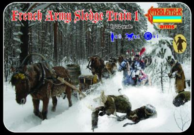 133 - French Army Sledge Train 1 1/72