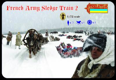 134 - French Army Sledge Train 2 1/72