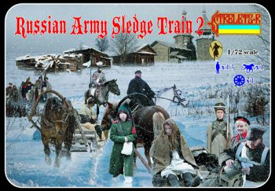 136 - Russian Army Sledge Train 2 1/72