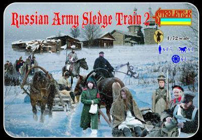 136 - Russian Army Sledge Train 2 1/72