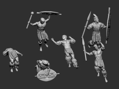 STL Zulu - 8515 wounded and death Zulu Warriors 1/72