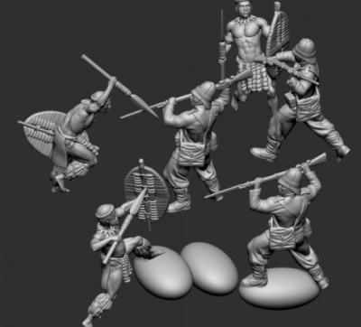 STL Zulu - 8519 Zulu War - close combat 03 1/72
