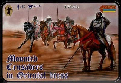 104 MOUNTED CRUSADERS IN ORIENTAL DRESS 1/72