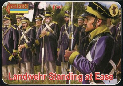 169 - Landwehr Standing at Ease 1/72