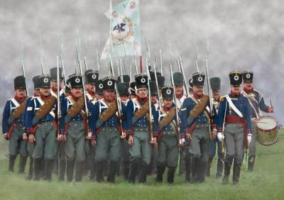 174 - Prussian Infantry on the March 1/72