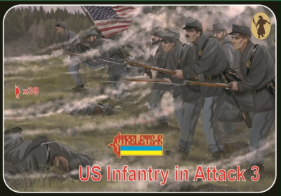 179 - Union Infantry in Attack 3 1/72