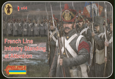 184 - French Line Infantry Standing at Attention 1/72
