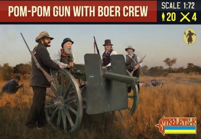188 - Pom-Pom Gun with Boer Crew 1/72