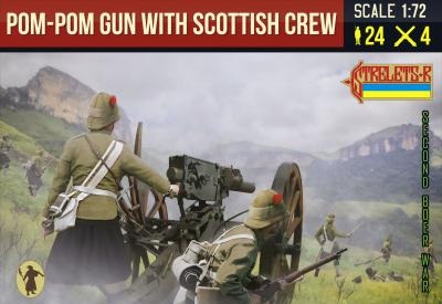 189 - Pom-Pom Gun with Scottish Crew Anglo-Boer War 1/72