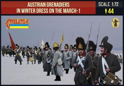 209 - Austrian Grenadiers in Winter Dress on the March 1 1/72