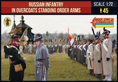 219 - Russian Infantry in Overcoats Standing Order Arms 1/72