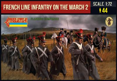 220 - French Line Infantry on the March 2 1/72