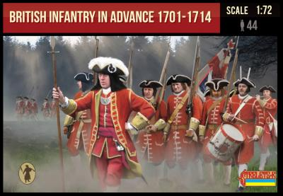 230 - British Infantry in Advance 1701-1714 1/72