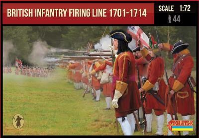 232 - British Infantry Firing Line 1701-1714 1/72