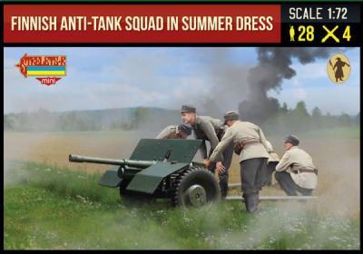 245 - Finnish Anti-Tank Squad in Summer Dress WWII 1/72