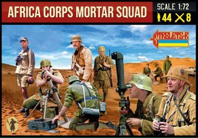 280 - WWII German Afrika Korps Mortar Squad 1/72