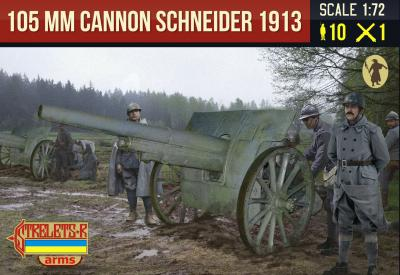 A015 - Canon de 105 mm 1913 Schneider with French Crew WWI 1/72