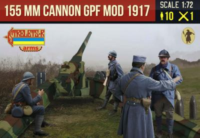 A018 - Canon de 155mm GPF mle 1917 with French Late War Crew in Winter Dress 1/72