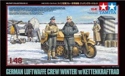 32412 - German Luftwaffe Crew (Winter) with Kettenkraftrad