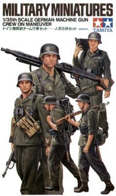 35184 - German Machine Gun Crew on maneuver WWII