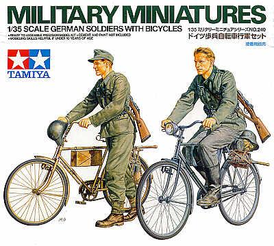 35240 - German Bicycles and Soldiers WWII