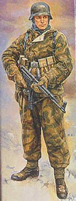 36304 - German (WWII) Infantryman in reversable winter uniform 1/16