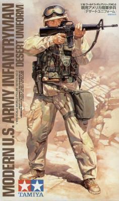 36308 - Modern U.S. Army Infantryman Desert Uniform 1/16