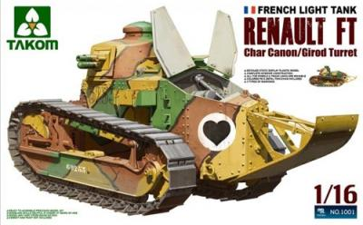 01001 - Renault FT-17 Char with Girod Turret & 37mm Canon 1/16